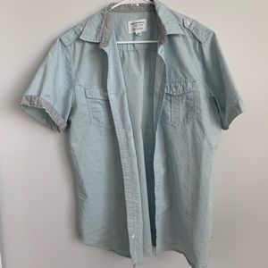 Paper Denim& Cloth casual shirt size M light blue